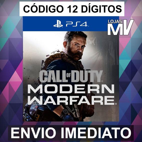 Call Of Duty Modern Warfare Lançamento Ps4 Codigo 12 Digitos
