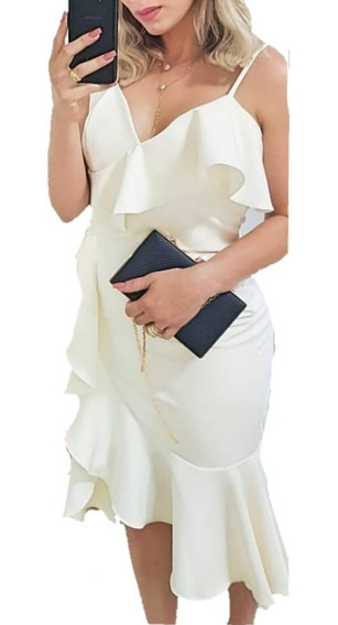 Vestido Madrinha Batizado Festa Moda Blogueiras Look Chique