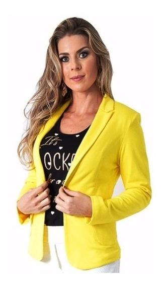 Blazer Feminino, Fashion, Ótima Qualidade E Tecido Ref 167