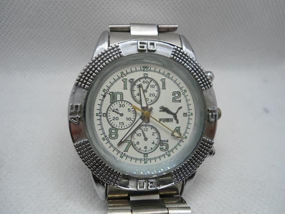 Relógio Puma Usado Mais Bem Conservado Todo Em Aço