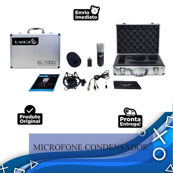 Microfone Condensador Com Fio Lyco