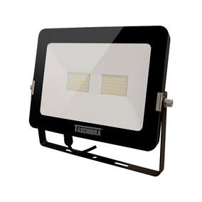 Refletor Taschibra Tr Led 50w Preto 6500k Luz Branca - 220v