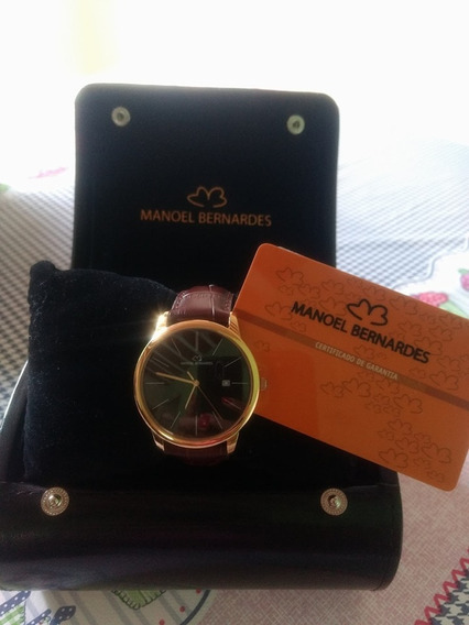 Relógio Manoel Bernardes- Masculino Pulseira De Couro