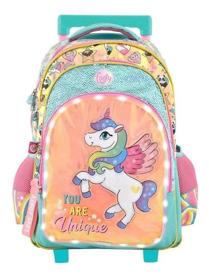 Mochila Carro Footy 18 Unicornio You Are Unique Con Luz Led!