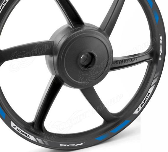 Friso Adesivo Refletivo D1 Roda Moto Honda Pcx 150