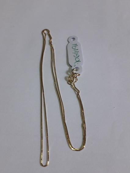 Cordão De Ouro 18k Veneziana 45 Cm