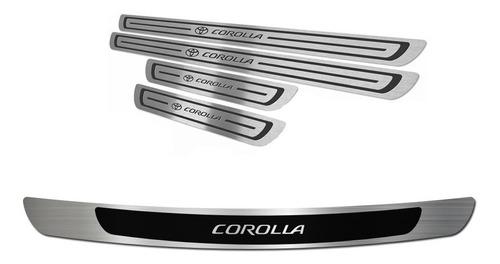 Kit Cubre Zocalos P/ Baul Y Puerta P/ Toyota Corolla 15/18