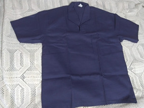 Camisa Brim Sarja, Gola Italiana, Manga Curta Tamanhos Gg