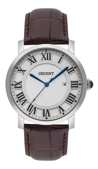 Relógio Orient Masculino Social Pulseira Couro Mbsc1035 S3nx