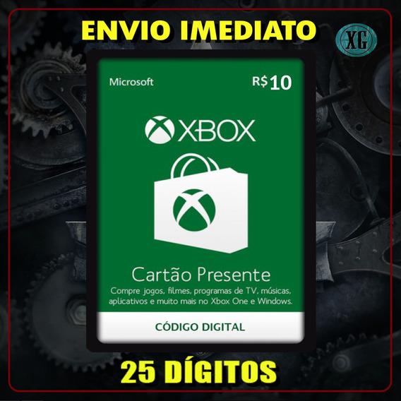 Xbox Gift Card 10 Reais Código 25 Dígitos [xbox Live]