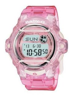 Reloj Casio Baby G Bg169r-4dr Sumergible 200m Rosa Mujer