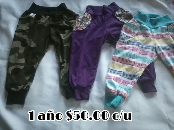 3 Pantalones Talla 1 Año Niña, Nuevos