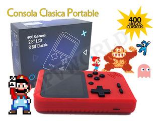 Mini Consola Portable 400 Juegos Clasicos Mario Bros Sonic
