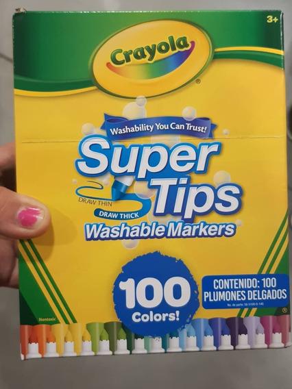 Plumones Crayola Supertips De 100pzs