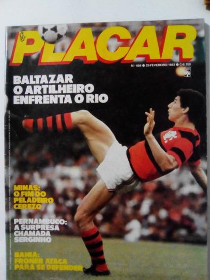 Revista Placar 666 Baltazar Flamengo Santos Inter Sport 1983