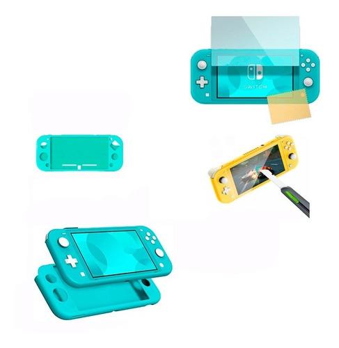 Funda/silicona/nintendo Switch Lite/mini +vidrio Templado
