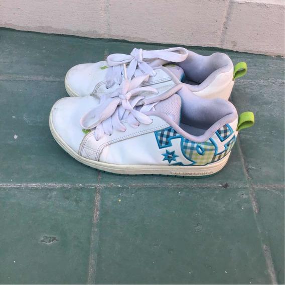 Zapatillas Dc Cuero Talle 36 - 23cm