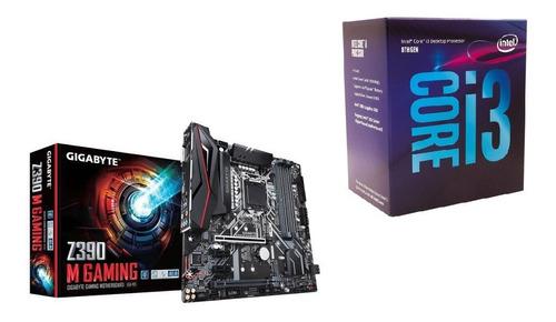 Kit Placa Mãe Z390 M Gaming + Processador Intel Core I3 8100