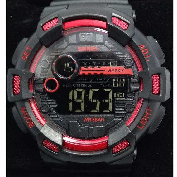Relógio Skmei 1243 Resistente A Água 50m Vermelho Original