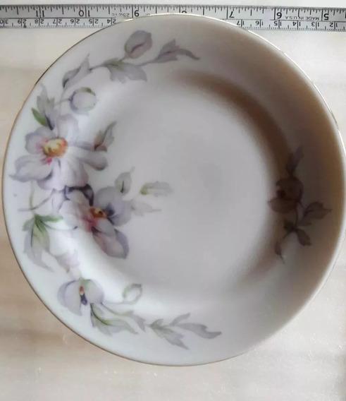 Juego De 6 Platos Antiguos Porcelana Tsuji Sellados Ø 16,3cm
