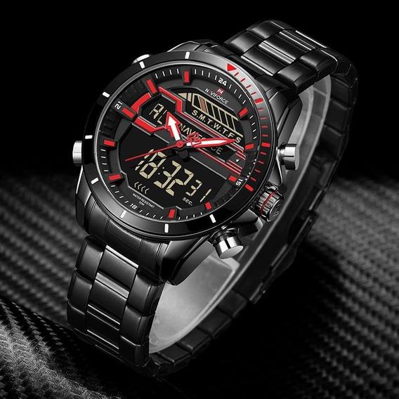 Relógio Masculino Naviforce Esportivo Digital 9133 Original