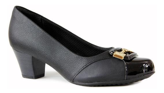 Sapato Scarpin Piccadilly Bico Redondo 111095 - Joanete