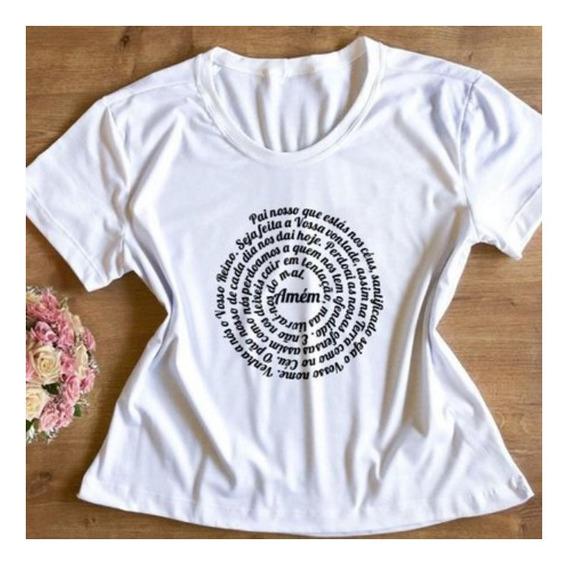 Blusa Camisa Camiseta Tshirts Feminina Pai Nosso Espiral