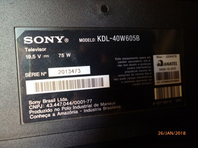 Kit De Leds Para Tv Sony Kdl 40w605b - Original