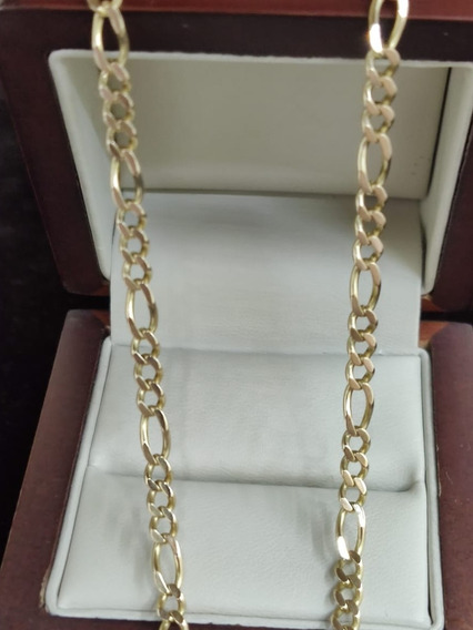 Cadena De Oro Amarillo 14k Italy Tipo : Cartier O Figaro .