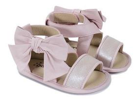 Sandália Infantil Gambo Couro Macio + Abertura Velcro