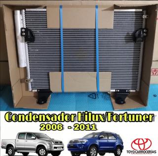 Condensador Hilux Fortuner 2006 2007 2008 2009 2010 2011