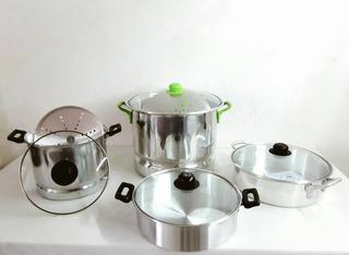 Bateria De Cocina Amelie 10 Piezas Aluminio