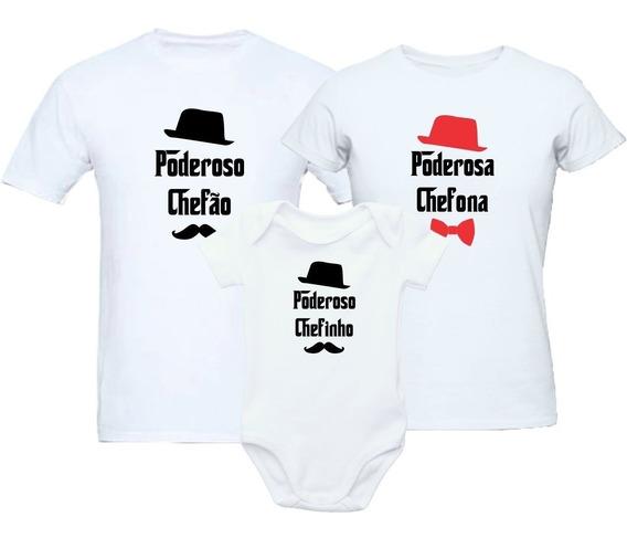 Kit Familia Camisetas Poderoso Chefão 3 Peças