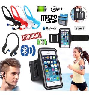 Fone Ouvido Sem Fio Sport Bluetooth Mp3 Rádio Sd Braçadeira