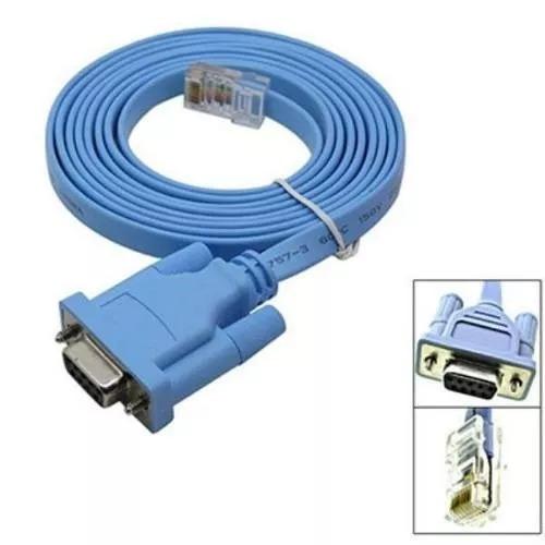 Cabo Console Rj45 Cat5 Ethernet/rs232 Serial Fêmea Adaptador