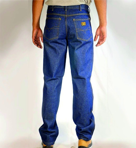 Blue Jeans Jim Clark De Seguridad 12 Onz. Triple Costura