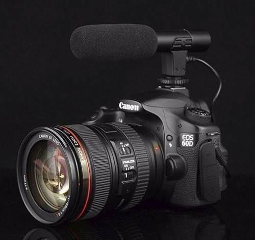 Microfone Dslr Direcional Fotografo Canon Shotgun Entrevista