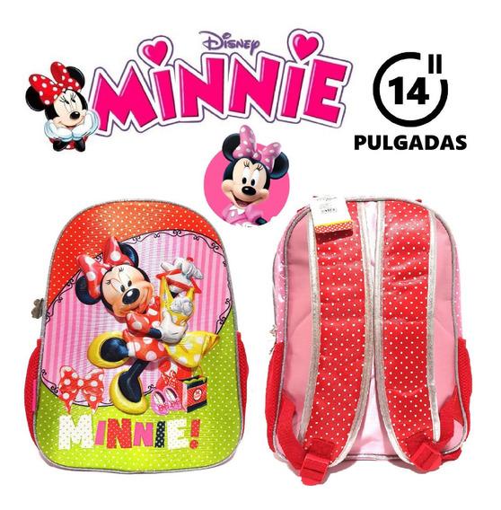 Mochila Minnie Disney 14 Pulgadas Junior Jardín Primaria
