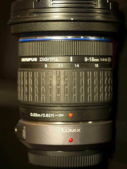Lente Zoom 9-18/4-5,6 Olympus Com Adaptador Micro 4/3 ,lumix