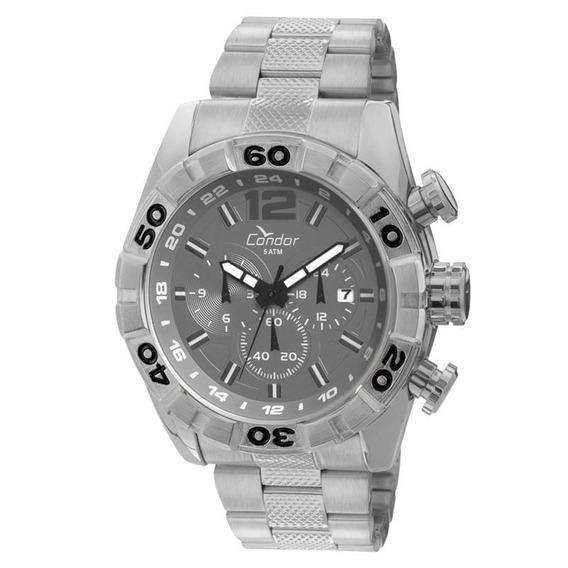 Relógio Condor Masculino Cronógrafo Cinza Covd33ab/3c