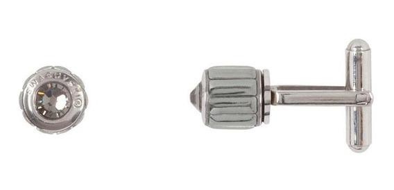 Thin Becharmed Metallic Swarovski Cufflinks - Cor Prata
