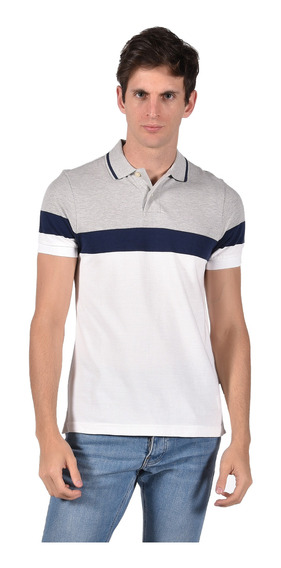 Polo Regular Fit Chaps Blanco 750714403-2wgr Hombre