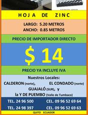 Hoja Zinc, Policarbonato Teja Española Acrilico Alucobond S