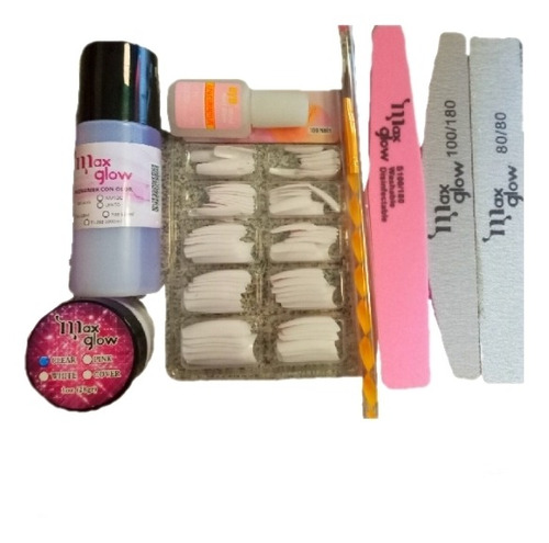 Imagen 1 de 2 de Kit 8pcs Para Uñas Acrilicas Basico Manicure Polvo Monomer