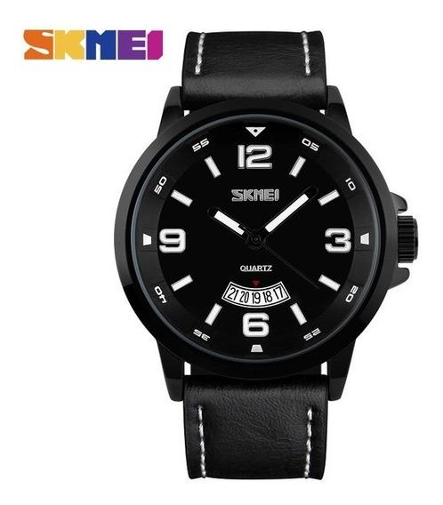 Relógio Masculino Skmei Analógico 9115 Preto Social Luxo