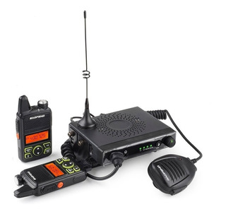 Handy Baofeng Mini One 10w Uhf 400-470 Mhz X2 + Base