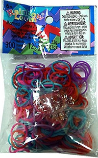Rainbow Loom 300 Ct. Silicone Rubber Band Refill Pack Tema D