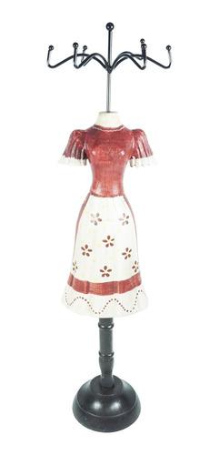 Busto Expositor Anel E Bijuteria - Vermelho E Branco