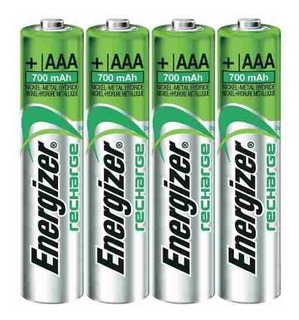 Pilas Recargables Baterias Energizer Aaa X 4