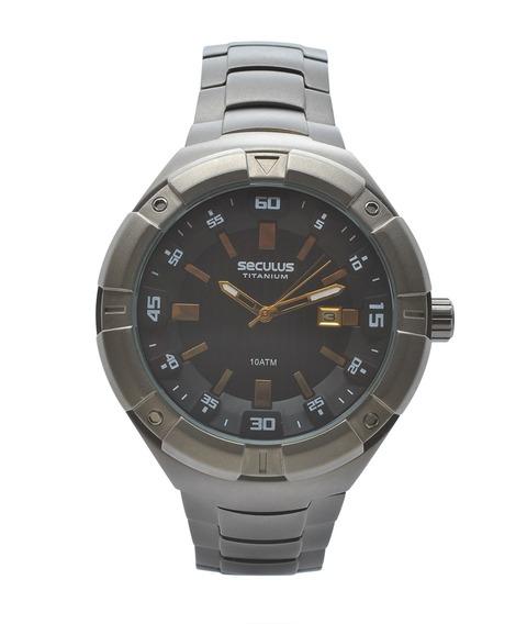 Relógio De Pulso Seculus Masculino Titanium 20289g0sv -cinza